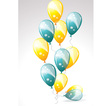 Ballons yellow and blue vector image