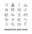 banknotes and coins money euro guilloche bank vector image