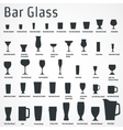 Bar glass Icon vector image vector image