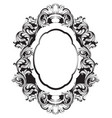 baroque mirror frame line art french vector image vector image
