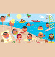 beach landscape cartoon vector image vector image