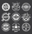 bicycle shop and repair service emblems vector image vector image