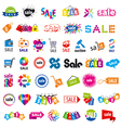 biggest collection of logos sale vector image