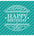 Blue Birthday Greeting Card vector image vector image