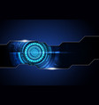 blue dark frame abstract technology background hi vector image