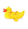 Bright rubber ducks to take bath with fun