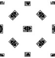 bundle of money pattern seamless black vector image vector image