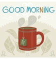 cartoon flat the cup of tea vector image