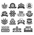casino emblems labels for poker club game vector image