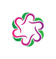 circle abstract round logo image vector image vector image