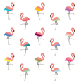 colorful flamingo pattern vector image vector image
