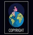 copyright intellectual vector image vector image