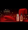 cosmetics bottles mockup skin care product line vector image