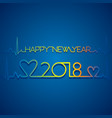 creative happy new year 2018 poster vector image