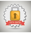 data center padlock icon vector image vector image