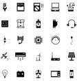 electric icon set vector image vector image