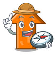 explorer arrow mascot cartoon style vector image