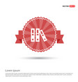 file cover icon - red ribbon banner vector image