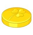 Golden coin icon cartoon style vector image vector image