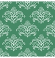 Green and white paisley seamless pattern vector image vector image