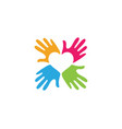 hand care logo template icon vector image vector image