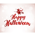 Happy Halloween banner Beautiful handwritten vector image vector image