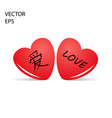 heart with chinese calligraphy love vector image