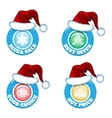 hot price and offers seasonal new year sale badges vector image