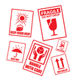 Instruction stickers vector image