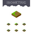 Isometric way set of single-lane cracks