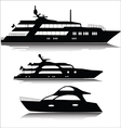 Large yachts silhouettes vector image vector image