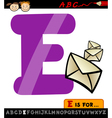 letter e with envelope cartoon vector image vector image