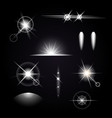 light effects icon set vector image