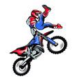 motorcycle motocross vector image vector image