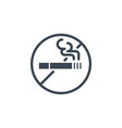 no smoking related glyph icon vector image