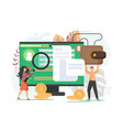 online banking flat style design vector image