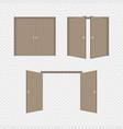 open and close door vector image
