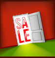 open door bright sale concept vector image vector image