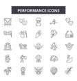 performance line icons signs set outline vector image vector image