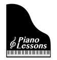 piano lessons vector image