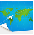Plane the world map concept vector image vector image
