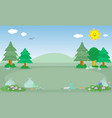 polluted woodland landscape vector image vector image