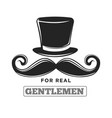 private club only for real gentlemen black and vector image vector image