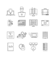 Program Development Icon Set vector image