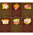 promo autumn or fall discounts half price adverts vector image vector image