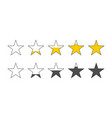 rating stars star review rating feedback concept vector image vector image
