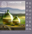 realistic winemaking traditional template vector image vector image
