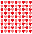 Red and pink heart set Seamless Pattern Wrapping vector image vector image