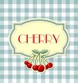 Retro cherry label vector image vector image