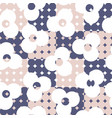 retro pastel wallpaper background with flowers vector image